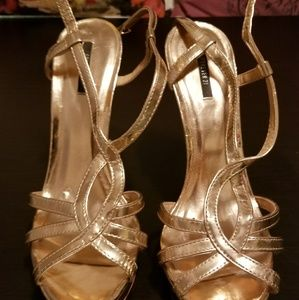 Forever 21 Rose gold strappy heels